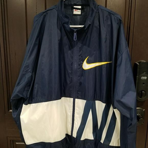 4fb9f3f016b2f Vintage Nike Windbreaker Jacket XL Men's Navy Blue